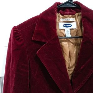 Old Navy Red Velvet Blazer